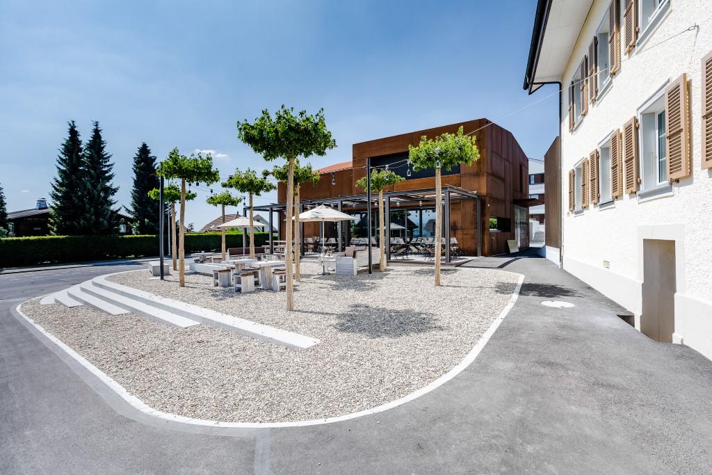 Neubau Restaurant Ox'n Schenkon Stimmungsbild